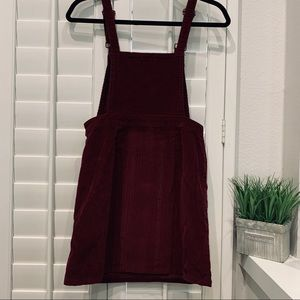 Burgundy overall dress size s
